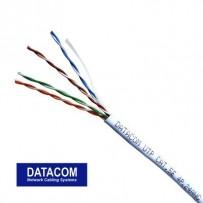 DATACOM UTP kabel drát CAT5E PVC 305m box, bílý