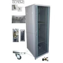 19' OCRACK OCC-42U-81SBK rozvaděč stojanový 42U/800x1000 skleněné dveře - černý