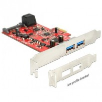 Delock PCI Express Card - 2 x external USB 3.0 + 2 x internal SATA 6 Gb/s – Low Profile Form Factor