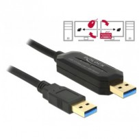 Delock kabel Data Link + KM Switch USB 3.0 Typ A samec - USB 3.0 Typ A samec 1.5 m
