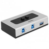 Delock přepínač USB 3.0 2 port ruční obousměrný